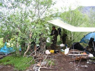 Лагерь у Красивого (Хибины 2005)