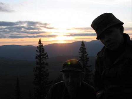 Лоси на закате (Урал 2007)