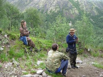 подъем на плато (Ловозерье 2009)