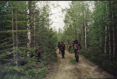 На марше (Карелия 2002)