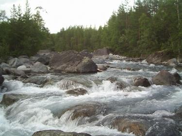 Хибинские реки  (Хибины 2005)
