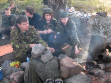Сосиски на костре (Вуокса 2008)