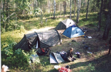 Вид на лагерь (Карелия 2003)