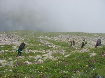 Спуск в долину озера Чилик (Кавказ 2008)