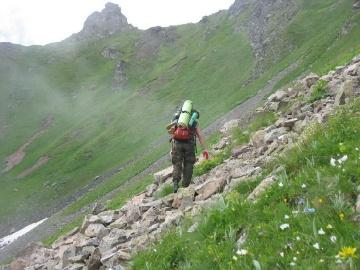 На  перевал Кяфар (Кавказ 2008)